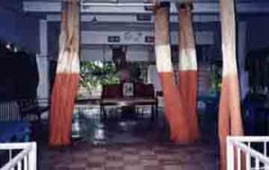The Prayer Room at the Nadiad Ashram, built around the banyan tree that Mota would chant in.