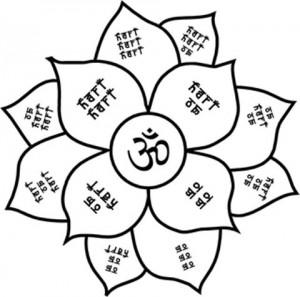 Hari Om flower mandala