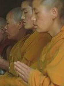 Buddhist saints-chanting